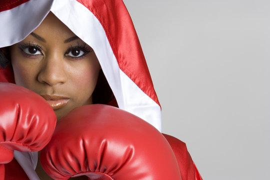 Black Boxing Woman