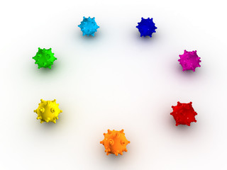 Colored bombs