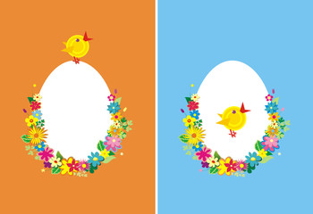 Two backgrounds for Easter