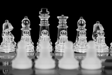 Four Chess Pawns, Focus On Back