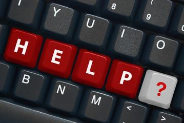 """""""Help"""" keys on keyboard with symbol"""