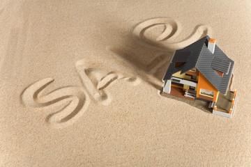 House on sand.