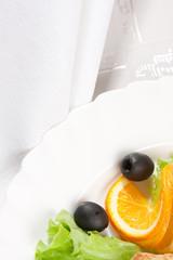 salad served with orange
