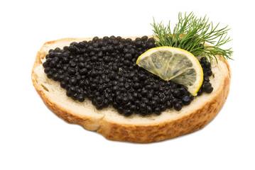 Caviar sandwich