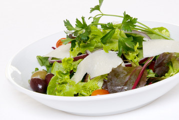Salad on White