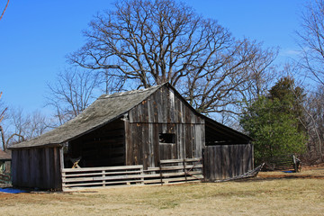 Old Barn with fence