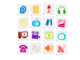 Miscellaneous multimedia vector icons