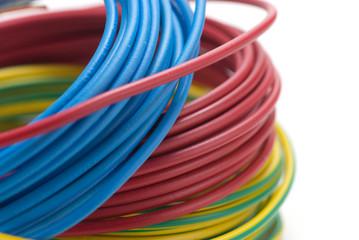 image d'une bobine de fil électrique - matériel d'électricien