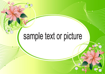 vectorial scope for a photo and text