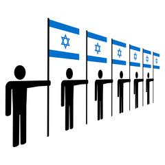 men holding Israeli flags