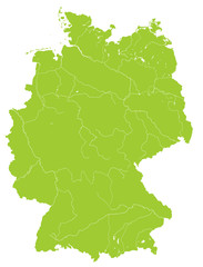 Deutschlandkarte, grün