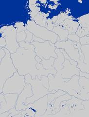 Deutschlandkarte, Flüsse