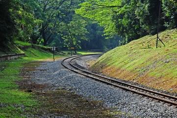 railway track in the urban