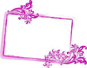 pink Rahmen Floral