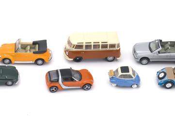 toy car on white