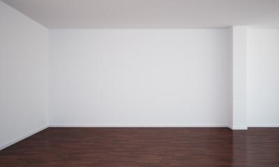 Empty room with dark floor