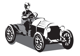 Old racer car