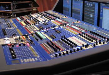 console de mixage.