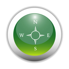 Glossy Compass - Direction Sign Button