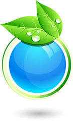 Single eco icon. Vector illustration.