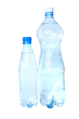 Isolated bottles of water