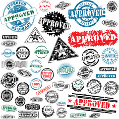 Approved rubber stamps collection