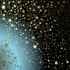 Black and blue background with stars