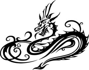 Drache, Tribal, Tattoo