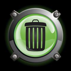 bouton poubelle