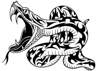 Snake Tattoo 02 - black illustration