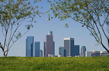 Wall Mural - Los Angeles Skyline on Spring Morning