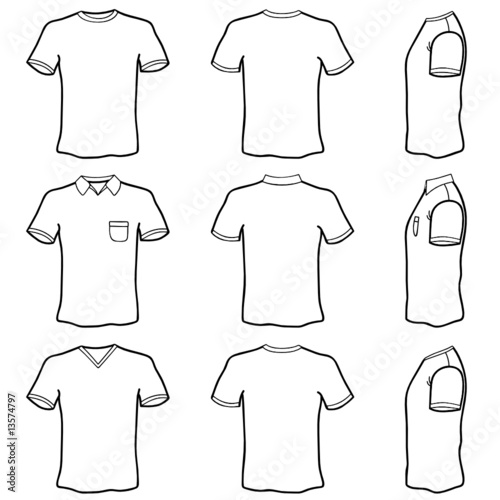 u0026quot t shirt template set  front  back and side view  u0026quot  stock image and royalty