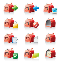 mailbox icon set