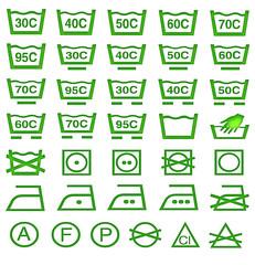 Reinigungssymbole gruen