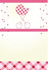 Celebratory card. With the newborn