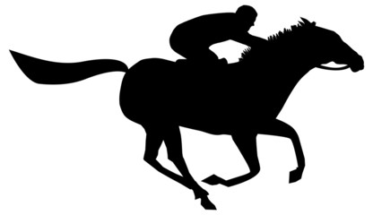 rider horse silhouettes