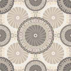 Spanish mosaic pattern in barcelona style seamless tileable