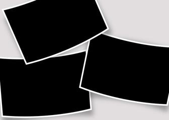 cadrages pour 3 photos courbes avec ombres sur fond gris