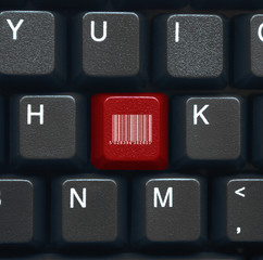 Barcode key on keyboard (red)
