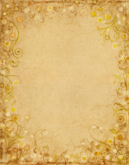Floral Grunge Paper