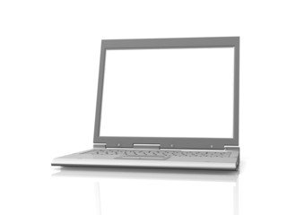 professional Laptop isolated with empty space
