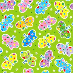 Butterflies seamless background, wallpaper, repeat pattern