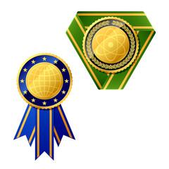Vector badges. Detailed portrayal.