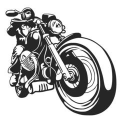 Wall Mural - motociclista vector