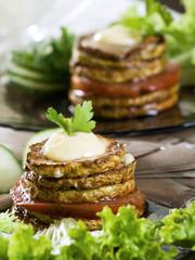 fried vegetable marrow