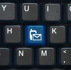 Text alert (SMS) symbol key on keyboard