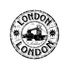 London grunge rubber stamp