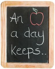 """An apple a day keeps ..."""