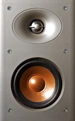 Silver and Orange Speaker