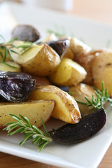 Roasted Rosemary Tri-Color Potatoes